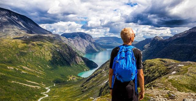 turista v Norsku