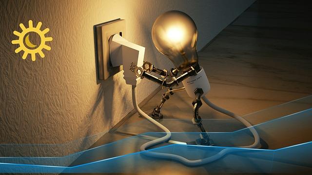 chodící žárovka