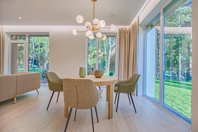 moderní interiér, obývací pokoj
