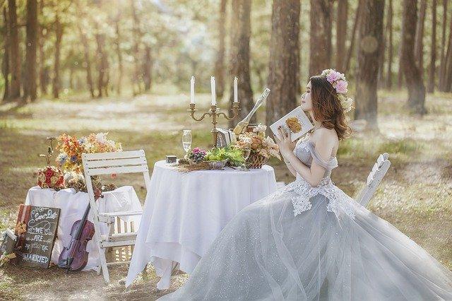 nevěsta v lese